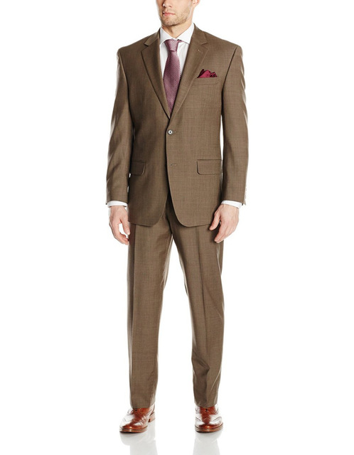 2018 Spring Branded Groom Tuxedos Groomsmen Men's Wedding Suits Best Man Suits Side Vent Suit With Flat Front Pant(jacket+pants)