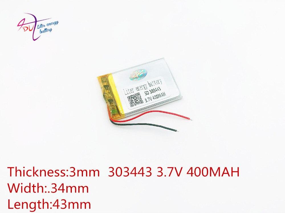 3,7 Lithium-polymer-batterie 303443 303442 400 Mah Liter Energie Batterie Mp3 Mp4 Mp5 Gps Bluetooth Wenig Spielzeug Spiel Stromquelle Unterhaltungselektronik