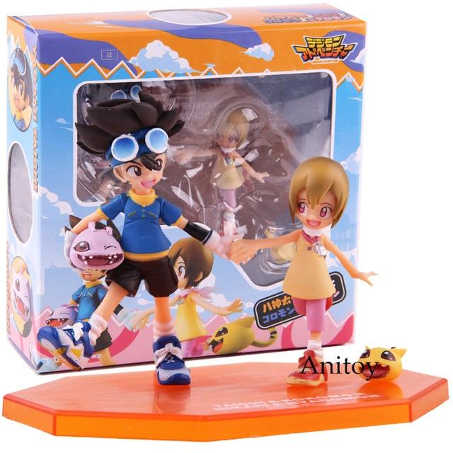 อัญมณีผจญภัยDigimon MonsterดิจิตอลTaichi Yagami Koromon Hikari Yagami Nyaromon PVC Action Figureของเล่นสะสม