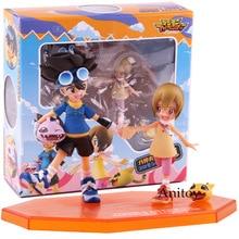 G.E.M Digimon Adventure Digital Monster Taichi Yagami Koromon Hikari Yagami Nyaromon PVC Action Figure Collectible Model Toy