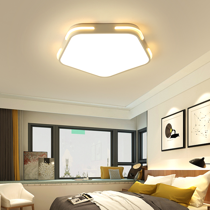 Modern LED Ceiling Lights Black/White for living room bedroom AC66-265V led ceiling lamp Indoor Lamp Lighting Fixtures black or white rectangle living room bedroom modern led ceiling lights white color square rings study room ceiling lamp fixtures