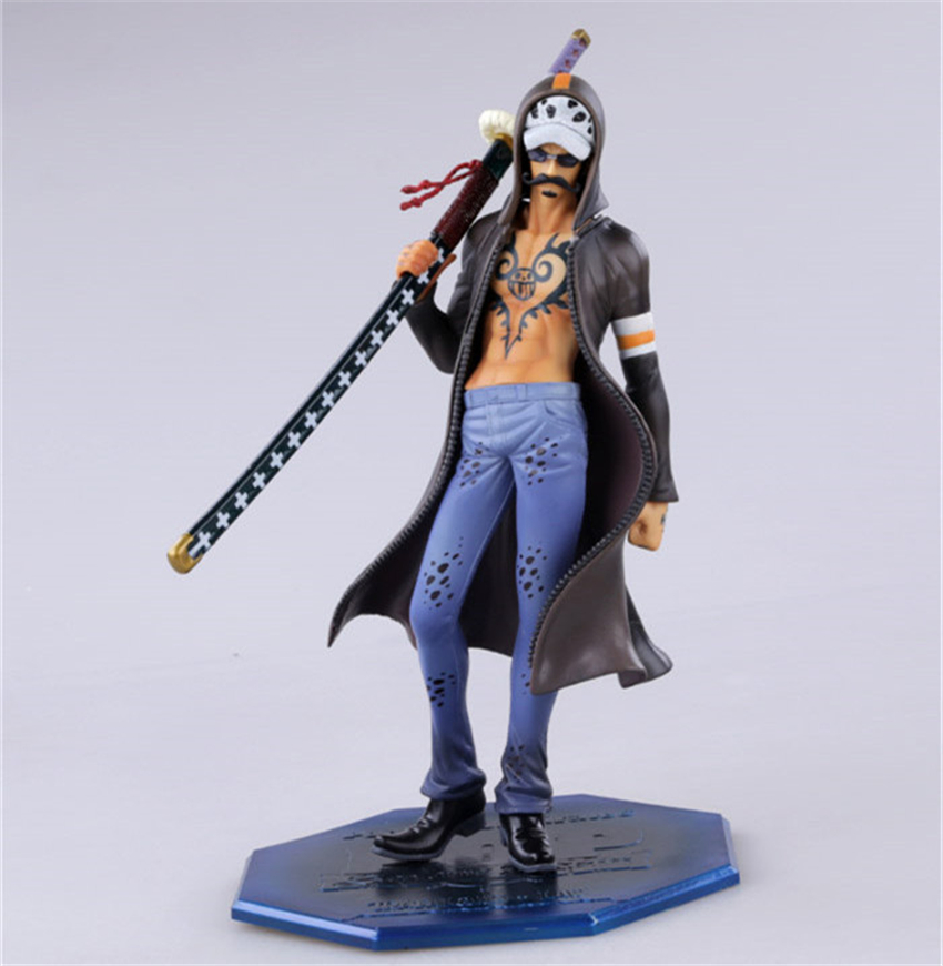 POP Anime Trafalgar Law PVC 20cm Action Figures Toy of King V.6 Battle War Collectible Model Toys