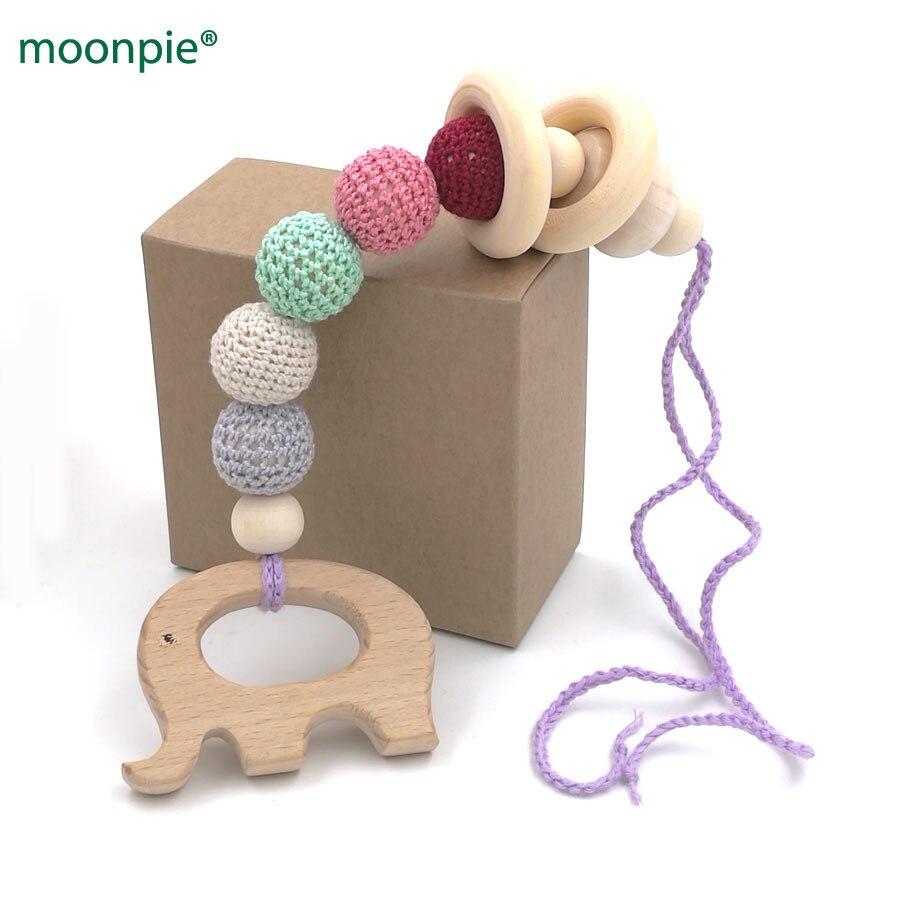 de4bf4a6c182 Cheap NIB juguete de enfermería orgánico w caja de regalo pastel 20mm  cuentas bebé ganchillo mordedor