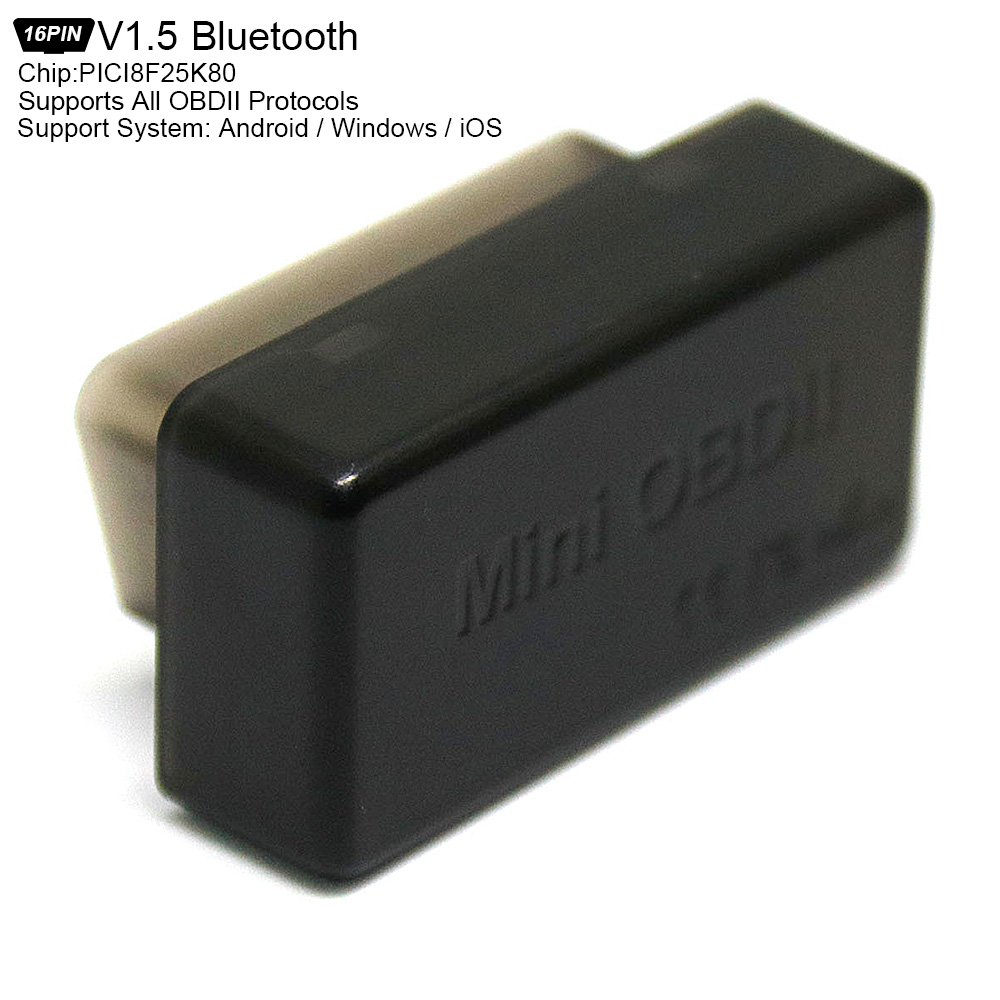 V1.5 PICI8F25K80 Bluetooth 4.0 Super Mini Scanner Wireless Interface Auto Car Code Readers Diagnostic Tool OBD 2 OBDII Protocols
