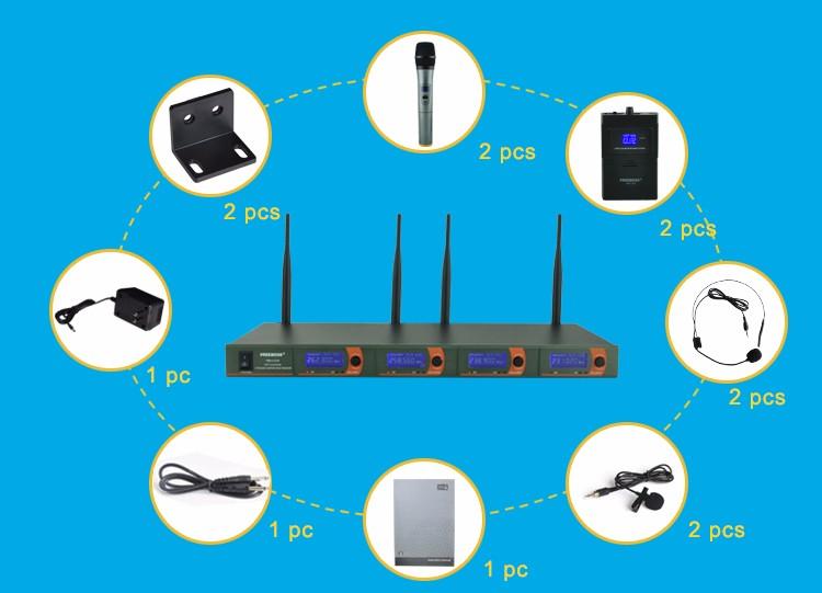 FB-V04 16 Wireless Microphones