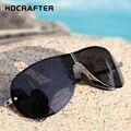 O mais novo Dos Homens Polarizados óculos de Sol Ao Ar Livre Óculos de Sol Óculos de Condução Espelho Goggle Óculos Sem Aro Masculino H79