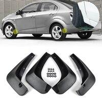 New 4 Pcs SET ABS Black Mud Flaps Splash Guards Mudguard Mudflaps Fenders For Chevrolet Sonic