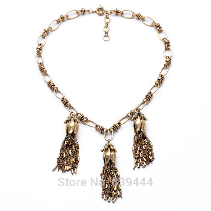 New Design Hot Sales Jewelry Wholesale Long Necklace Antique Gold Color Vintage Tassel Necklaces Pendants 4pcs universal aluminum car tyre air valve caps bicycle tire valve cap car wheel styling round alloy caps 16 x 10 x 10mm