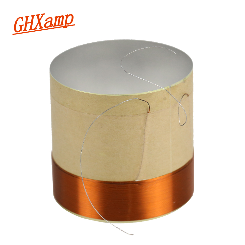 GHXAMP 51.5 Core Woofer Voice coil ASV White Aluminum For 10 inch 12 inch 15 inch Bass Coil Speaker Repair Accessories DIY 2PCS ghxamp 3 inch 4ohm 30w midrange speaker car speaker mid human voice sound good loudspeaker for lg diy 2pcs