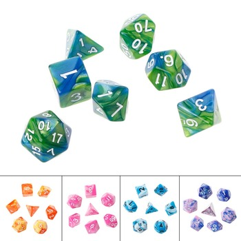 Acrylic Polyhedral Dice For TRPG Board Game Dungeons And Dragons D4-D20 7PCSSET A28