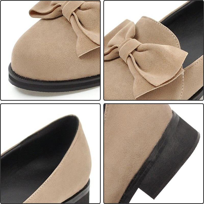 Chaussures Fanyuan on Travail Plat noeud Bout Occasionnels Plus30 Femme Souple Mocassins Beige 46 Bateau Papillon Slip grey Rond Semelle Femmes black xIrqIO