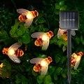 Новый милый медовый пчелиный Солнечный садовый светильник  5/6  5/7 м  20/30/50 светодиодов  Солнечная пчела  светодиодная гирлянда  светильник  ул...