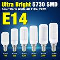 Efficent 5730 SMD LED Protect Eyesight Milky Cover Corn Bulb E14 AC 110V/220V Cool/Warm White 7W 9W 12W 15W 20W 25W EB8412