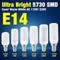 Eficiente 5730 SMD LED Visão Proteger Cobertura Leitoso Lâmpada De Milho E14 AC 110 V/220 V Frio/Branco Quente 7 W 9 W 12 W 15 W 20 W 25 W EB8412