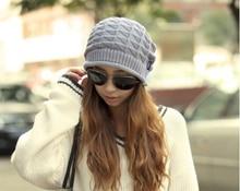 Женская Мода Зима Теплая Сутулиться Крючком Шапочка Вязаная Шапка Шапка