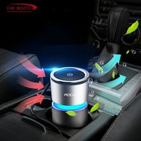 Car Air Purifier P2.5 Negative Ion Formaldehyde Removing Air Freshener Cleaner Ionizer Eliminate Smoke Auto Cup Car Charger