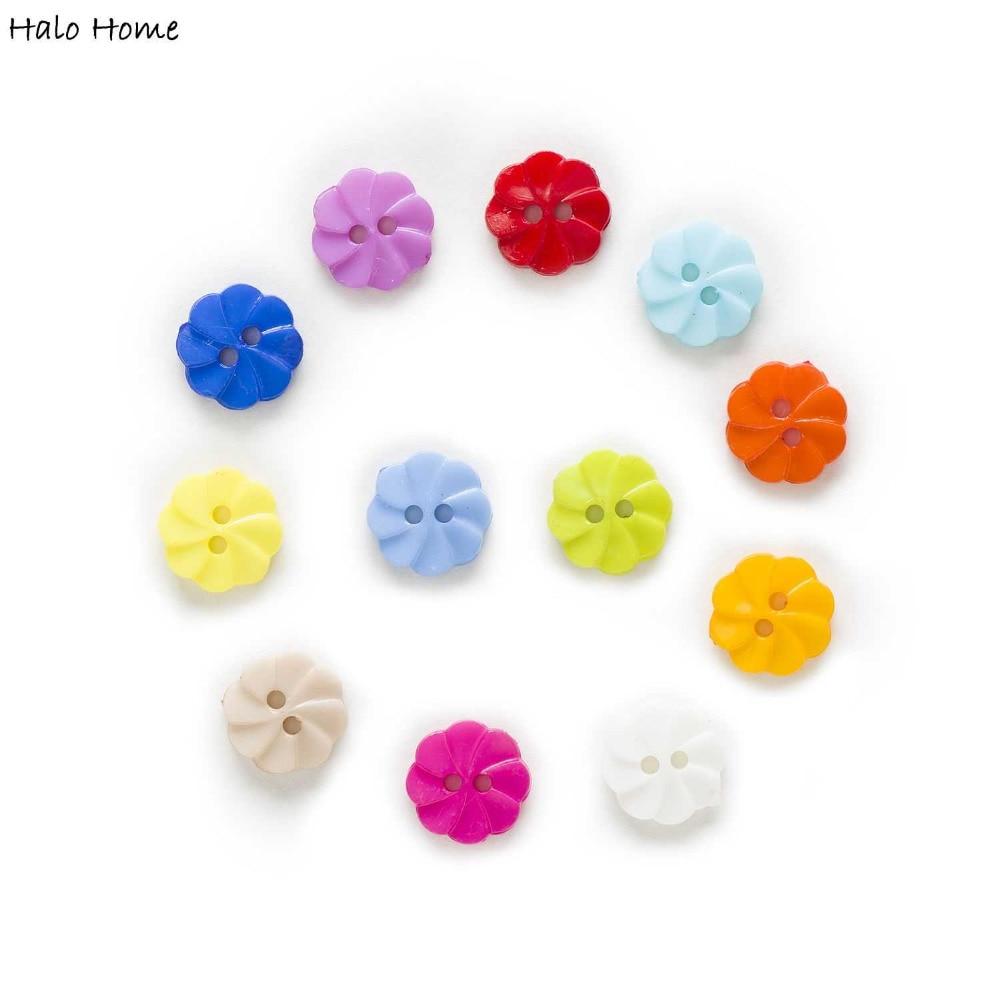 100 قطعه دکمه های دکوراتیونی نایلونی دور 2 سوراخ دکوراسیون لباس منزل کارت خراطی کتابچه خزدار ساخت DIY 13mm