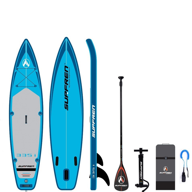 Надувная доска для серфинга Stand up SUP paddle, Всесезонная доска для серфинга iSUP, 2019, 335i SURFREN 335*81*15 см, байдарка для серфинга