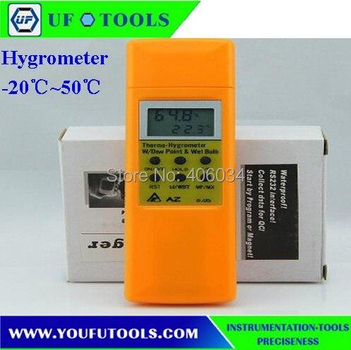 ФОТО 2016 newest AZ-8705 AZ8705 Convenient pocket size with cap Display dew point &wet bulbTemp AZ 8705 Hygro-thermometer Meter