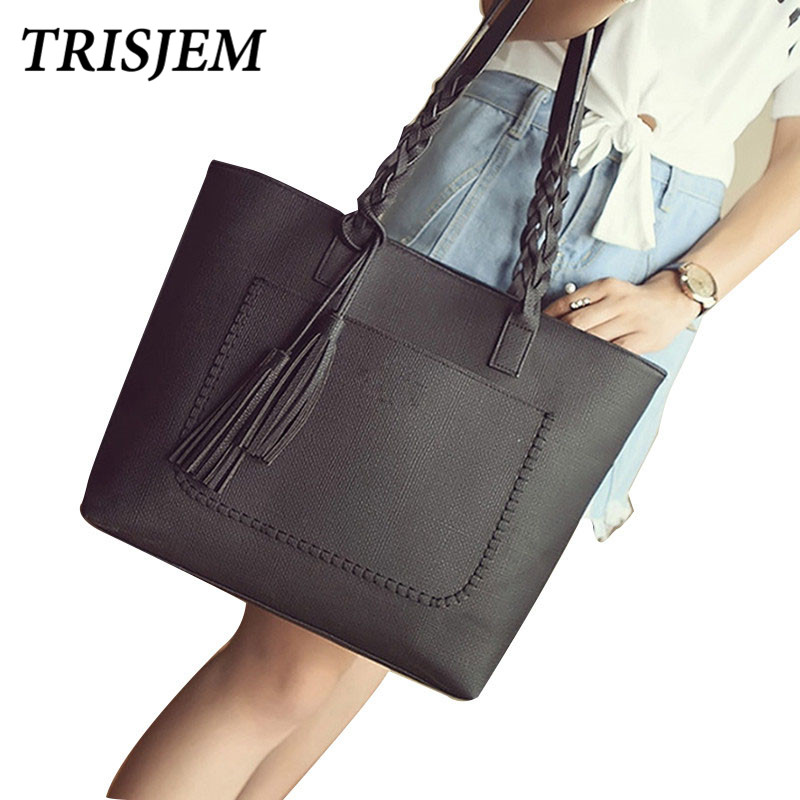 Women Tassel Leather Handbags Vintage Shoulder Bags Female Large Totes Designer Ladies Hand Bags sac a main bolsas feminina 2018