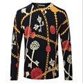 Hombres Floral Jersey sudadera Primavera Otoño de Punto de Lana Peinada Marca Ocasionales Adelgazan Delgados Más Tamaño Suéter de Cachemira F1932