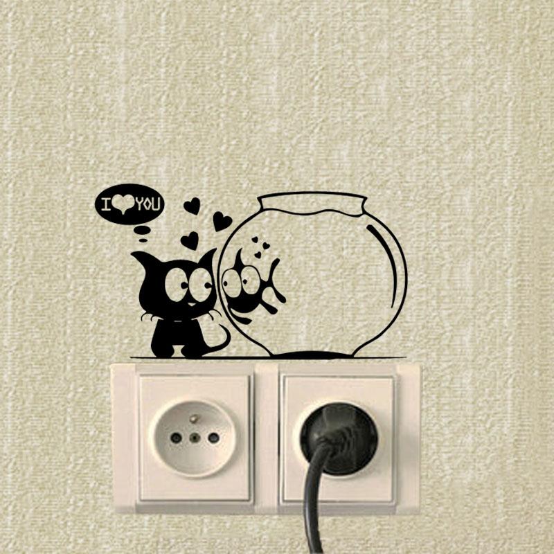 Cat And Fish Aquarium Funny Animals Switch Stickers Cat And Fish Aquarium Funny Animals Switch Stickers HTB1zAZEPVXXXXbTXXXXq6xXFXXXj