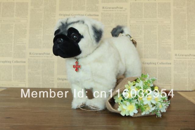 Lovely Simulation Dog Handbag Pug Fuzzy Nation Long Plush Frame Stand Bag Series 5items Lot