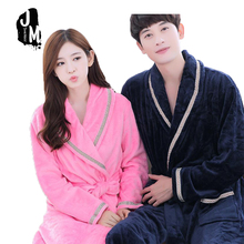 Winter Lady Pajamas Bath Robe Sleepwear Woman Man Robes Coral Velvet Bathrobes Night Gown Spa Bathrobe Homewear Asia Size S-XXXL