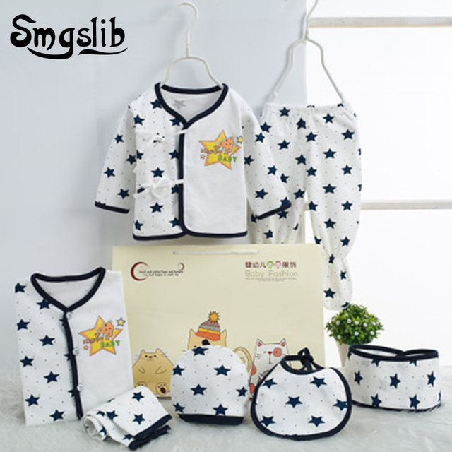 0aa7fea22273b 7 Pcs/Lot Newborn baby boy clothes Toddler infant clothing costume 0-3  Months
