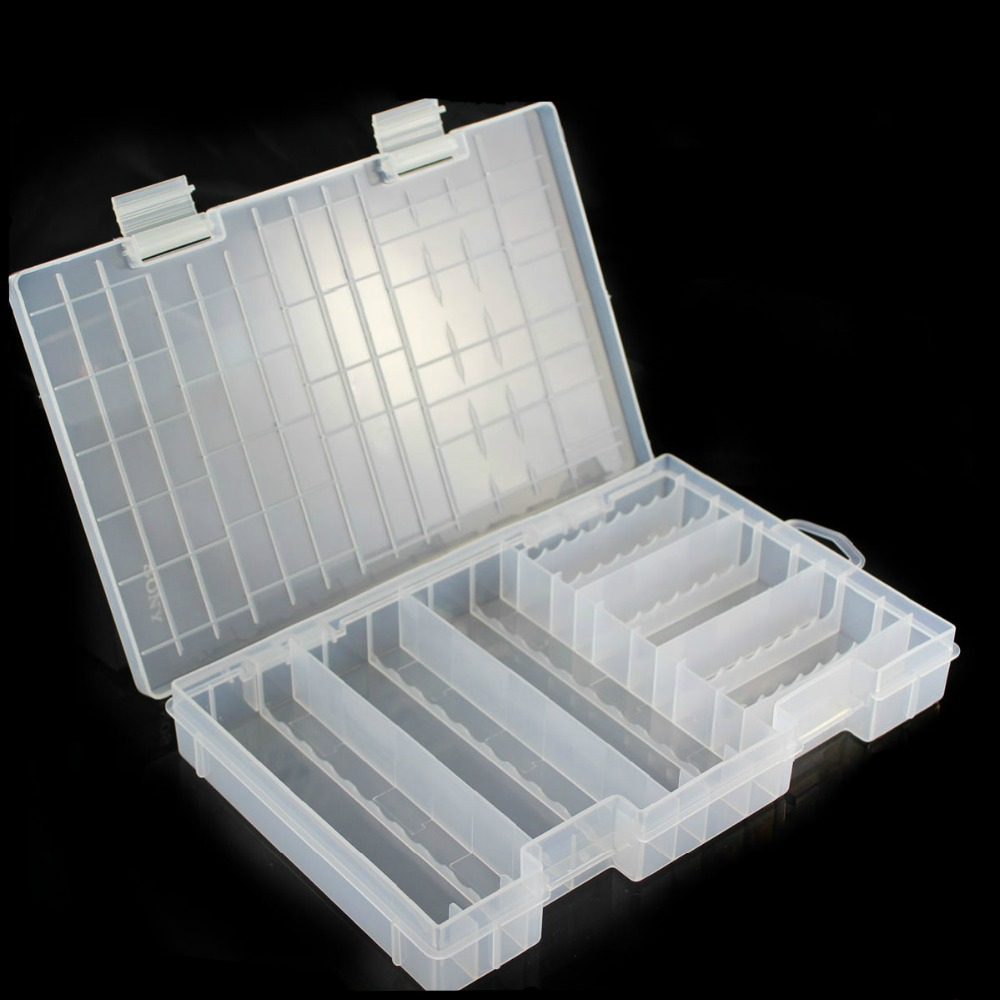 Super Volume Transparent Plastic Battery Storage Box For Placed 100pcs AAA  AA Battery Holder Container Coverd Finish Kit Box