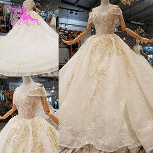 Image 5 - AIJINGYU voile de mariage musulman Simple dentelle blanche et Tulle grande taille avec Royal médiéval jolies robes de mariée avec manches