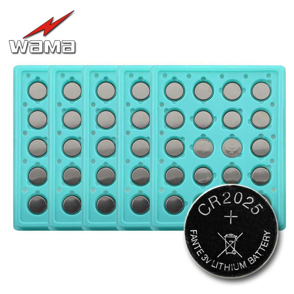 100 шт./5 Pack зава Новый CR2025 литий-ионный 3 В кнопки сотового монет Батарея автомобиль дистанционного BR2025 <font><b>2025</b></font> DL2025 KCR2025 LM2025 Батареи
