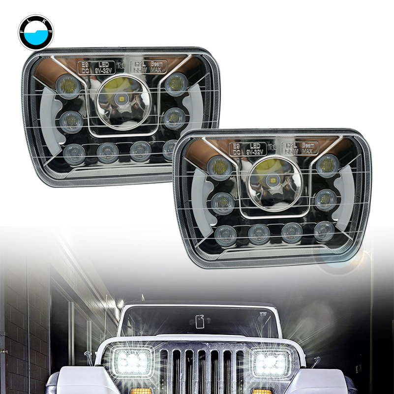 2x LED Headlight Hi//Lo Beam Bulbs Upgade Fit for International 4700 4900 8100 US