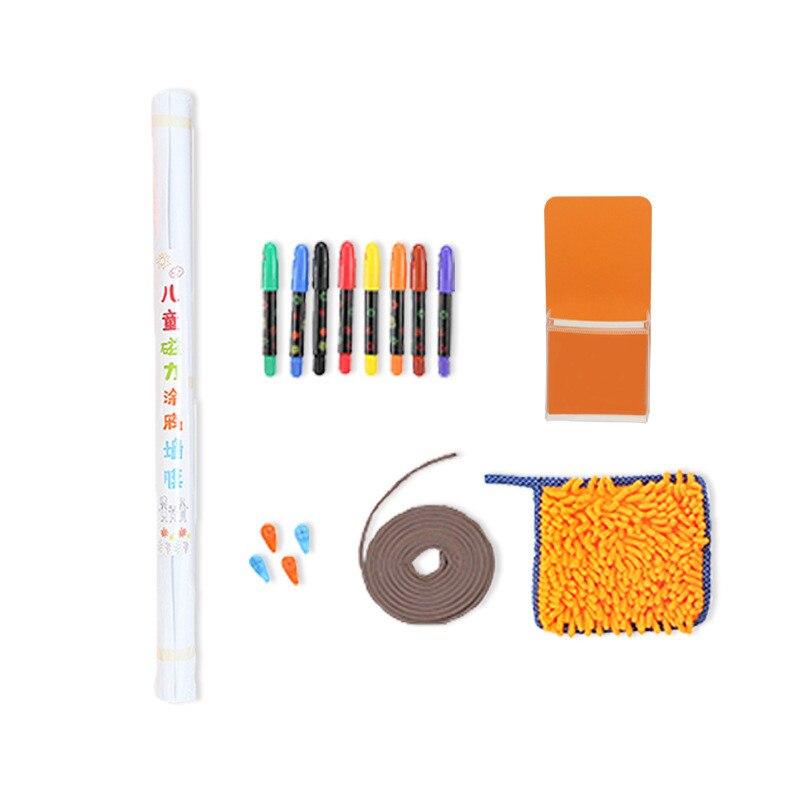 60*90cm Graffiti wand film Frühen bildung weichen whiteboard kinder zeichnung board set Magnetische bord malen kinder spielzeug geschenk - 4