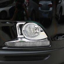 цена на For Toyota Highlander Kluger 2014 2015 2016 ABS Plastic front fog lamp light Frame Cover Trim Car Styling accessories