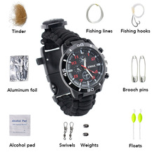 16 in one multifunctional compass flint outdoor table mountain outdoor survival kit hiking camping table