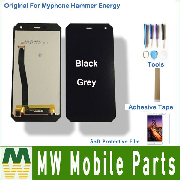 1PC/Lot AAA quality For Myphone Hammer Energy LCD Display Screen + Touch Screen Assembly Black Color With kit1PC/Lot AAA quality For Myphone Hammer Energy LCD Display Screen + Touch Screen Assembly Black Color With kit