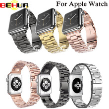 Stainless Steel Watch band wrist Strap for apple watch 42 mm 38 mm link bracelet Replacement Watchband for iwatch serise 1 2 цена 2017