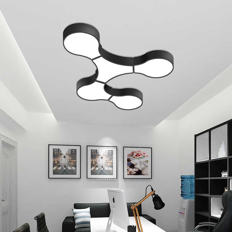 Современные светодиодные потолочные светильники для внутреннего освещения светодиодные плафоны ячеек Формы Потолочный светильник для гостиной фонарь для спальни teto
