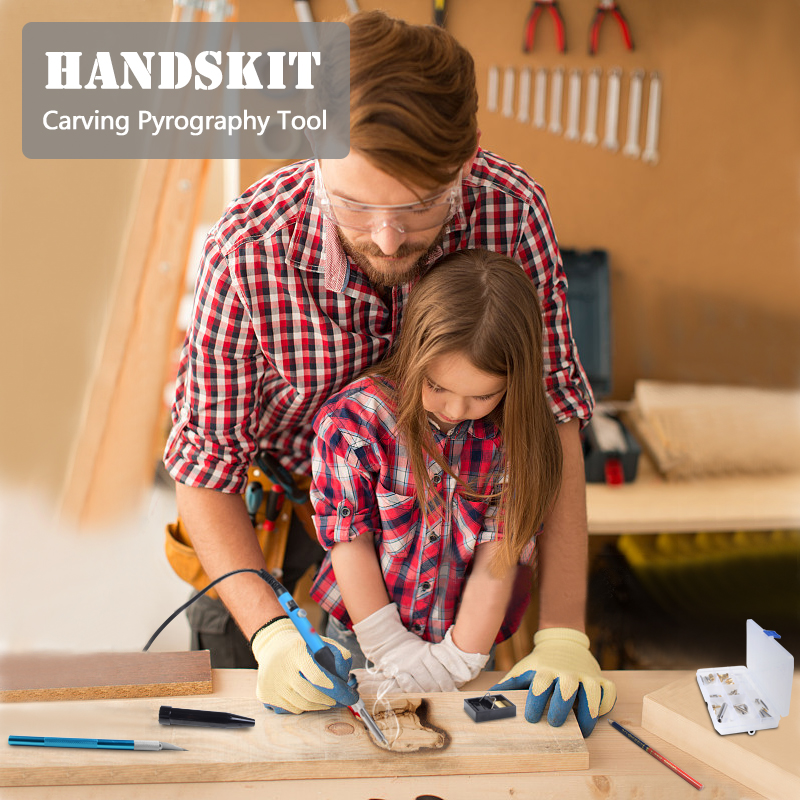 Image 5 - Handskit 40PCS 110V/220V 60W Soldering Iron Kit Wood Burning Pen Set  Electric Soldering Iron Carving Pyrography Toolsadjustable soldering ironsoldering penadjustable solder - AliExpress