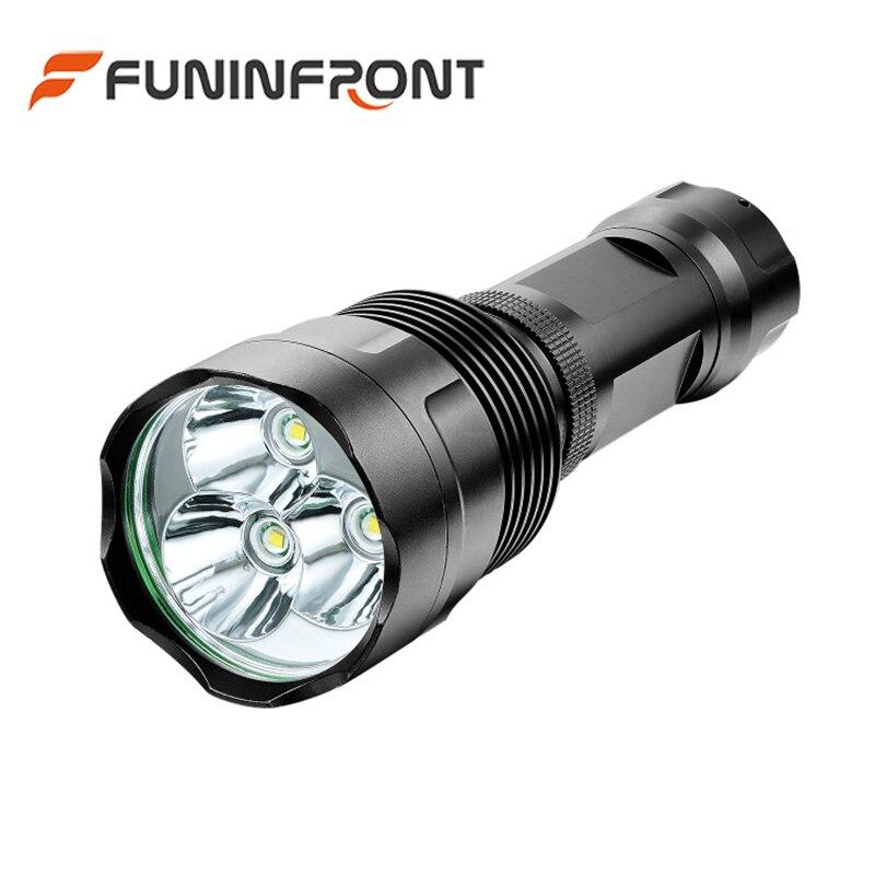30 Вт высокое Мощность 200 м Long Range Открытый 3T6 CREE XML тактический фонарик светодиодный фонарик с помощью 18650 или 26650 литий-ионный Батарея