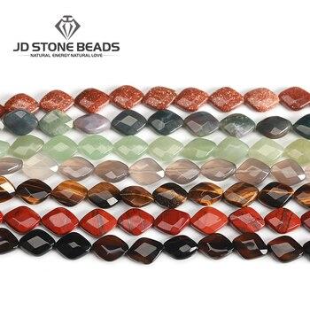 539c52a92af3 LUOMAN XIARI faceta Natural cristal blanco irregular piedra perlas para  joyería hacer DIY collar Material 14 20mm Strand 15
