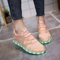 KRIATIV Cool Girls Shoes Glowing Sneakers For Kids Children Luminous Sneakers With Lighted Up Shoes For