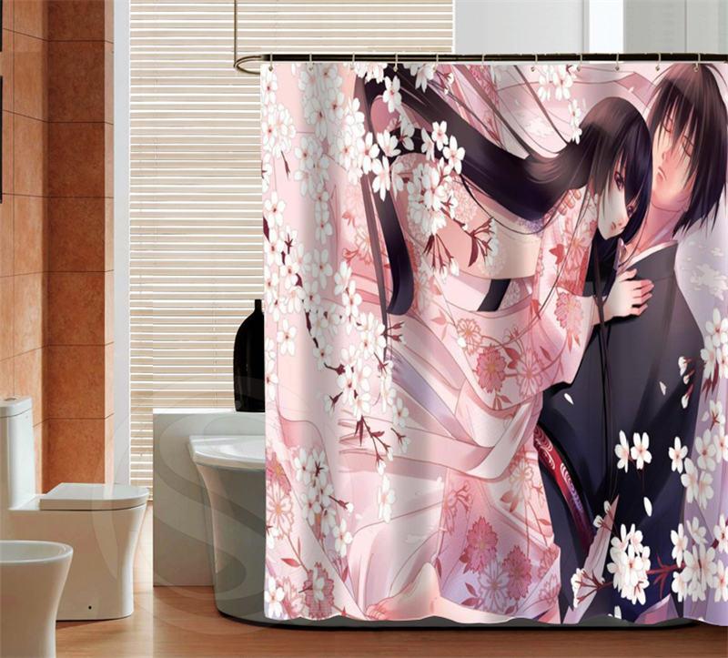 Fashion Japanese Anime high quality custom Shower Curtain Bathroom decor various sizes Free Shipping MORE SIZE SQ0426-ZHH-02