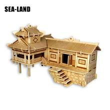 A Kids Toys Of 3d Puzzle Wooden Toys For Children Suspended Building A Best Montessori Educationaly Diy Toy As A Gift For Kids