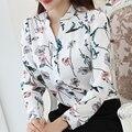 2016 venta caliente estilo Coreano de la nueva llegada de primavera y otoño la mujer de manga larga superior blusas casual camisa femenina delgada 882 H 30