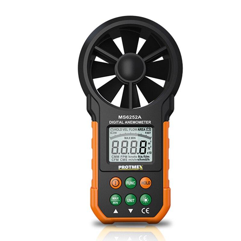 Anémomètre numérique tachymètre Volume d'air jauge de vent compteur professionnel compteur de Test de vitesse du vent multifonction