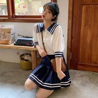 New Arrival Japanese JK Sets School Uniform Girls Sakura Embroideried Autumn High School Women Novelty Sailor Suits Uniforms