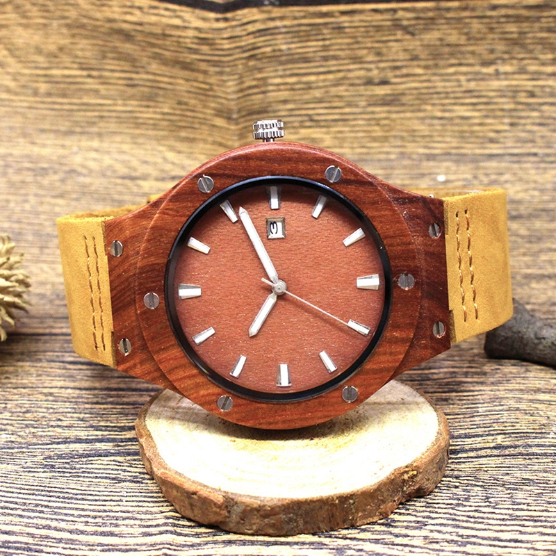 Quartz Wrist Watch  Relogio Feminino  Wooden Watch  Quartz Watches  TJW    Bamboo Wooden Watch  Top Brand Luxury  Date Display  Zebra Wood6