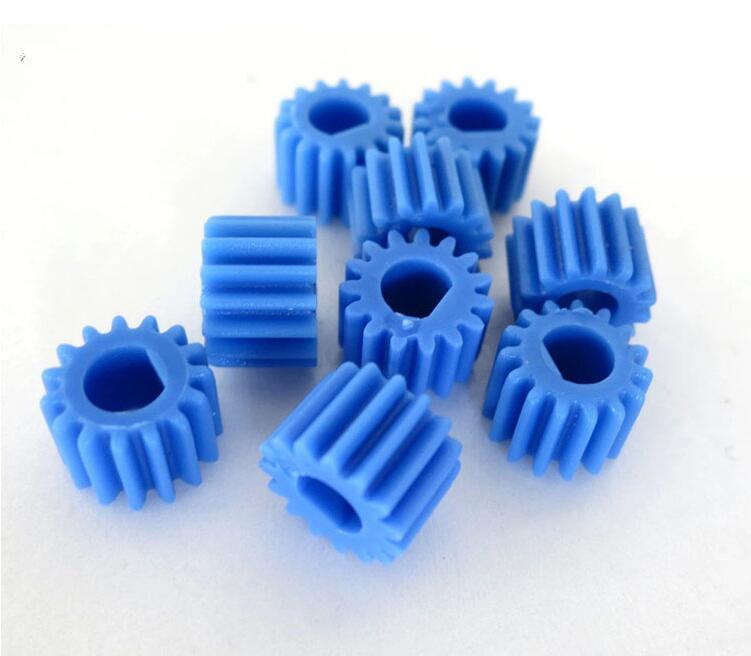 5pcs Blue 3mm 15T D Hole Shaft  Motor Gear For Robotic Car Model Toy DIY RC